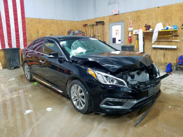 Salvage cars for sale at Kincheloe, MI auction: 2017 Hyundai Sonata Sport