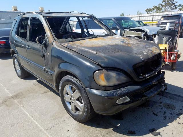 Mercedes-Benz ML 500 salvage cars for sale: 2005 Mercedes-Benz ML 500