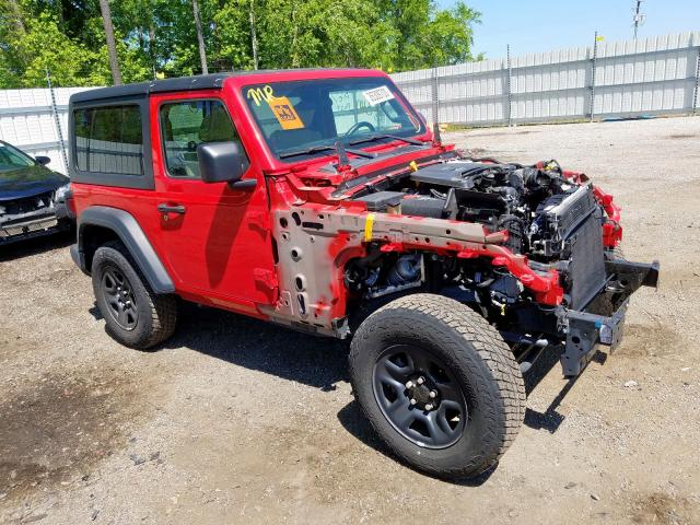 Jeep salvage cars for sale: 2018 Jeep Wrangler S
