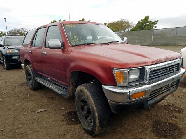 Toyota 4runner VN salvage cars for sale: 1991 Toyota 4runner VN