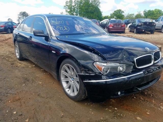 BMW 745 LI salvage cars for sale: 2003 BMW 745 LI