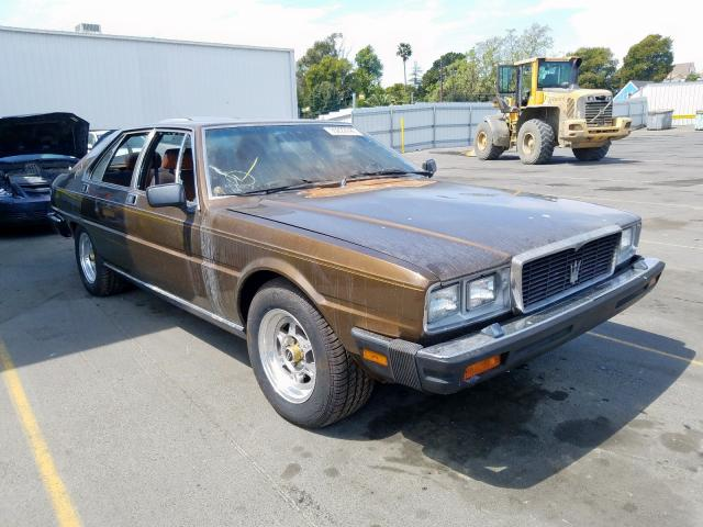 Maserati salvage cars for sale: 1983 Maserati Quattropor