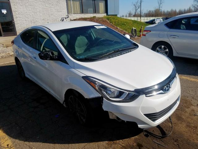 Salvage cars for sale from Copart Woodhaven, MI: 2015 Hyundai Elantra SE