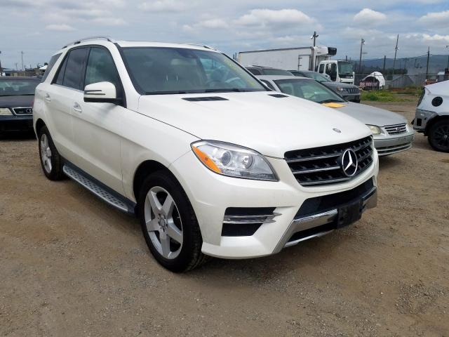 Mercedes-Benz ML 350 BLU salvage cars for sale: 2014 Mercedes-Benz ML 350 BLU