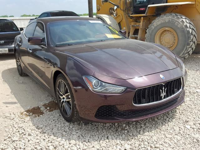 Maserati salvage cars for sale: 2014 Maserati Ghibli S