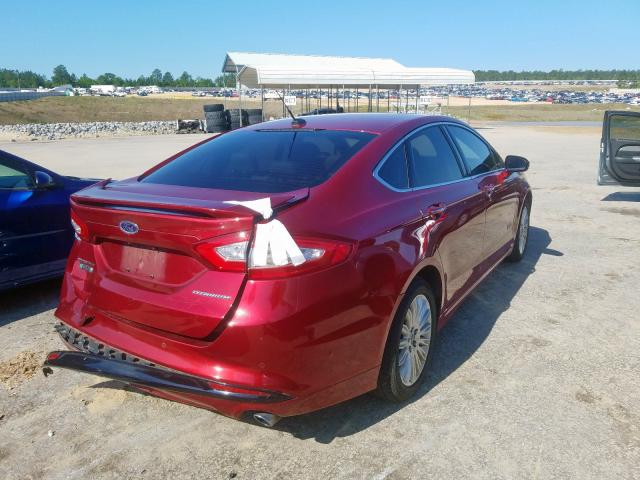 2014 FORD FUSION TIT - Right Rear View