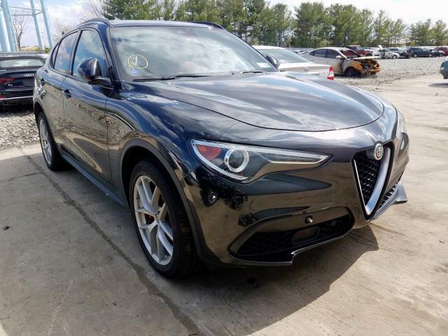 Salvage cars for sale at Windsor, NJ auction: 2018 Alfa Romeo Stelvio TI