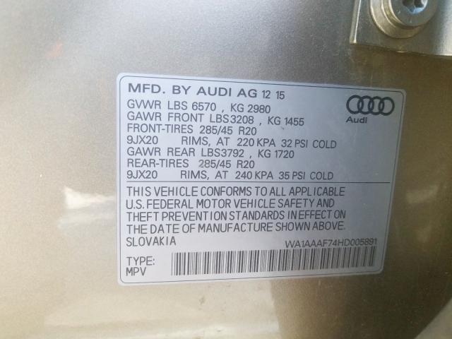 WA1AAAF74HD005891