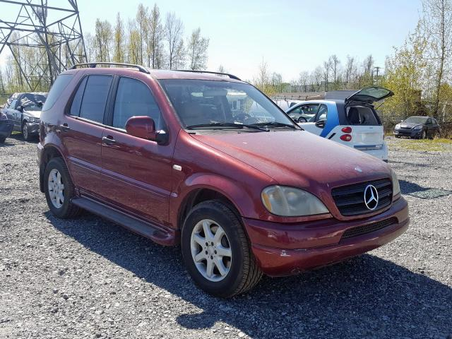 Mercedes-Benz salvage cars for sale: 2000 Mercedes-Benz ML 430