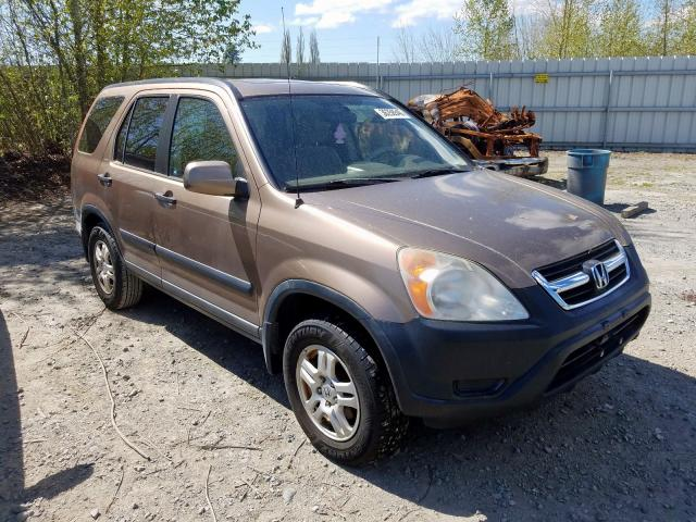 Salvage cars for sale from Copart Arlington, WA: 2002 Honda CR-V EX