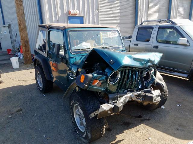 Jeep Wrangler salvage cars for sale: 1998 Jeep Wrangler
