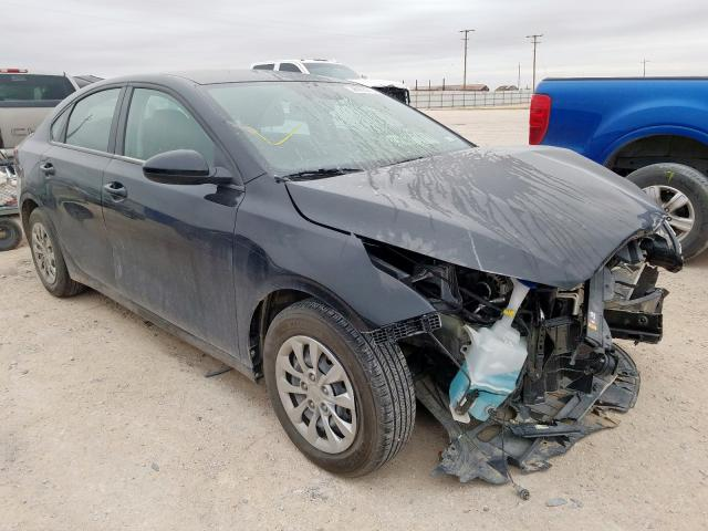 Salvage cars for sale from Copart Andrews, TX: 2020 KIA Forte FE