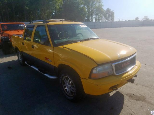 Salvage cars for sale from Copart Dunn, NC: 2002 GMC Sonoma