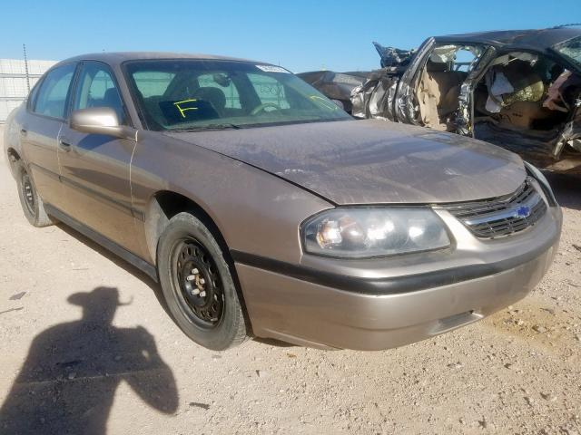 Salvage cars for sale from Copart Andrews, TX: 2003 Chevrolet Impala