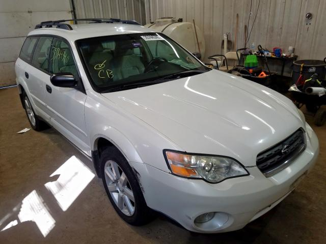 Salvage cars for sale from Copart Lyman, ME: 2006 Subaru Legacy Outback