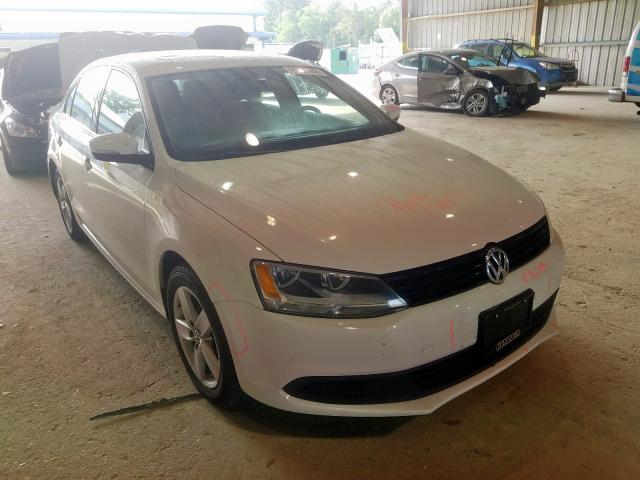 Salvage cars for sale from Copart Greenwell Springs, LA: 2012 Volkswagen Jetta TDI