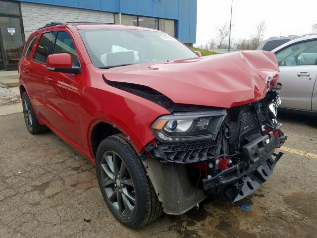 Dodge Durango GT salvage cars for sale: 2018 Dodge Durango GT