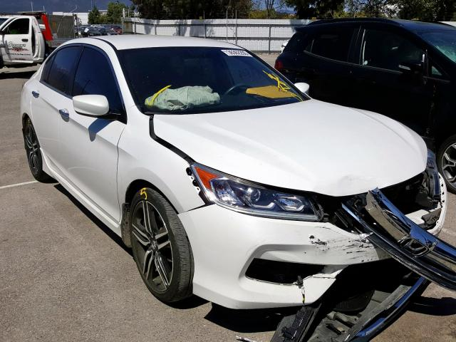 Honda Accord Sport salvage cars for sale: 2016 Honda Accord Sport