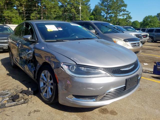 Chrysler salvage cars for sale: 2015 Chrysler 200 Limited