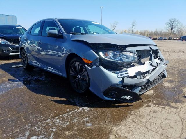 Salvage cars for sale from Copart Woodhaven, MI: 2019 Honda Civic EX