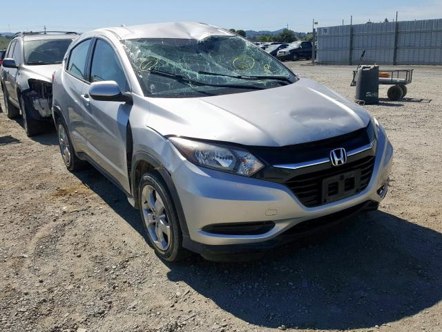 Honda HR-V LX salvage cars for sale: 2016 Honda HR-V LX