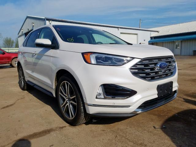 Salvage cars for sale from Copart Pekin, IL: 2019 Ford Edge Titanium