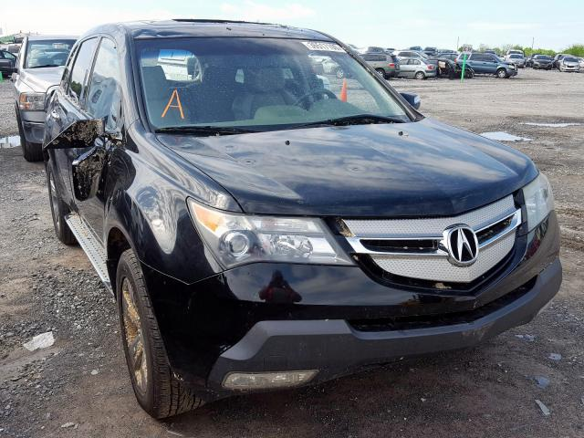 Acura MDX Sport salvage cars for sale: 2009 Acura MDX Sport