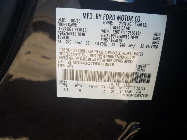 2FMDK4JC1DBC78885 2013 FORD EDGE SEL