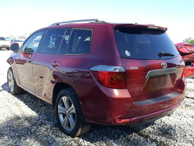 2008 TOYOTA HIGHLANDER - Right Front View