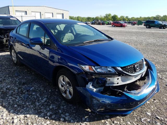 Salvage cars for sale from Copart Bridgeton, MO: 2015 Honda Civic LX