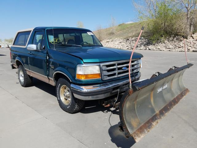 Ford Bronco U10 salvage cars for sale: 1996 Ford Bronco U10