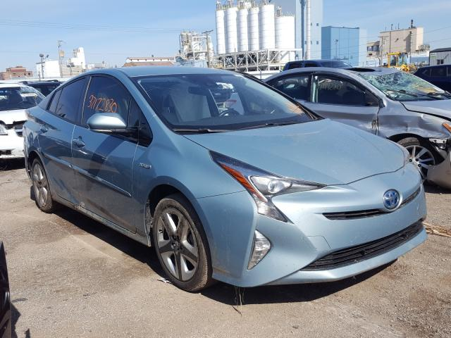 Salvage cars for sale from Copart Chicago Heights, IL: 2017 Toyota Prius