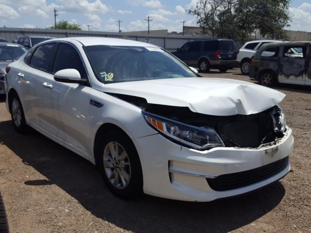 Salvage cars for sale from Copart Mercedes, TX: 2016 KIA Optima LX