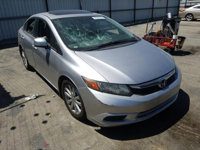 Salvage cars for sale from Copart Bakersfield, CA: 2012 Honda Civic EXL