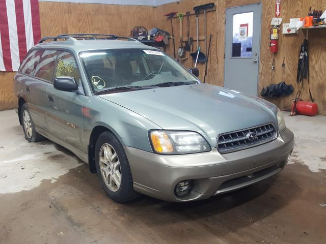 Salvage cars for sale from Copart Kincheloe, MI: 2003 Subaru Legacy Outback