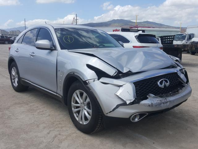 Infiniti QX70 salvage cars for sale: 2017 Infiniti QX70