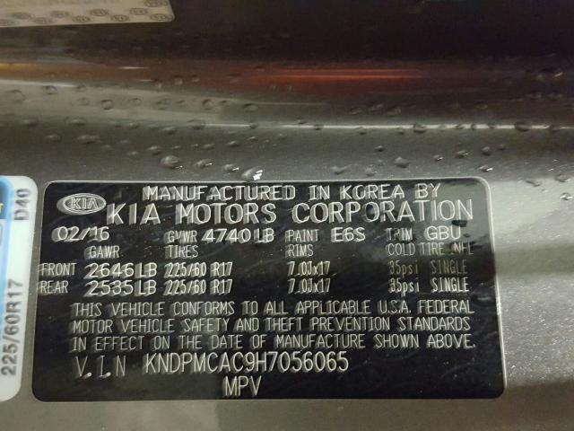 KNDPMCAC9H7056065 2017 KIA SPORTAGE LX