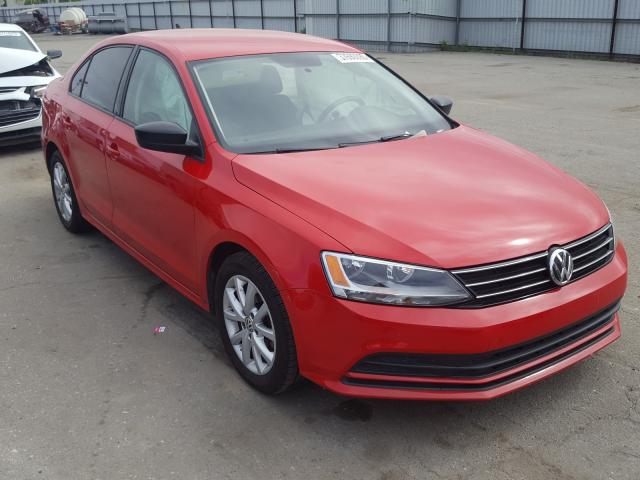 Salvage cars for sale from Copart Bakersfield, CA: 2015 Volkswagen Jetta SE