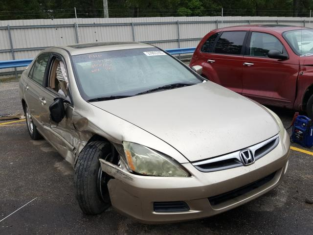 Honda Accord EX salvage cars for sale: 2006 Honda Accord EX