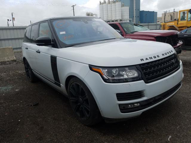 Salvage cars for sale at Chicago Heights, IL auction: 2017 Land Rover Range Rover