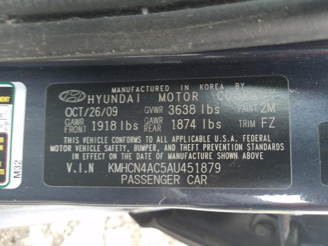 2010 HYUNDAI ACCENT GLS - Other View