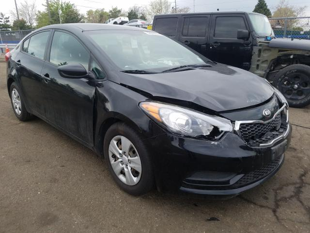 KIA Forte LX salvage cars for sale: 2016 KIA Forte LX