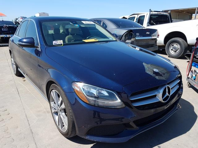 Mercedes-Benz C300 salvage cars for sale: 2017 Mercedes-Benz C300