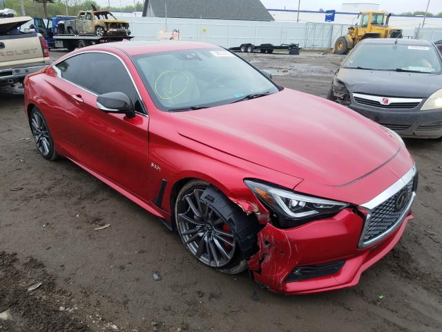 Salvage cars for sale from Copart Hammond, IN: 2017 Infiniti Q60 RED SP