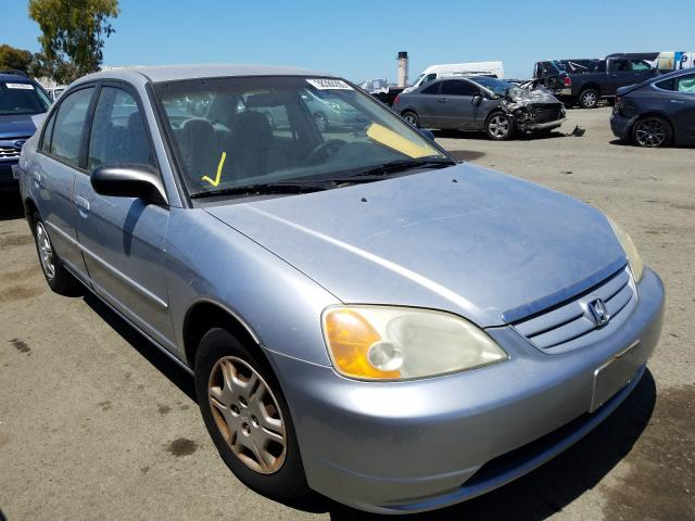Salvage cars for sale from Copart Martinez, CA: 2002 Honda Civic LX