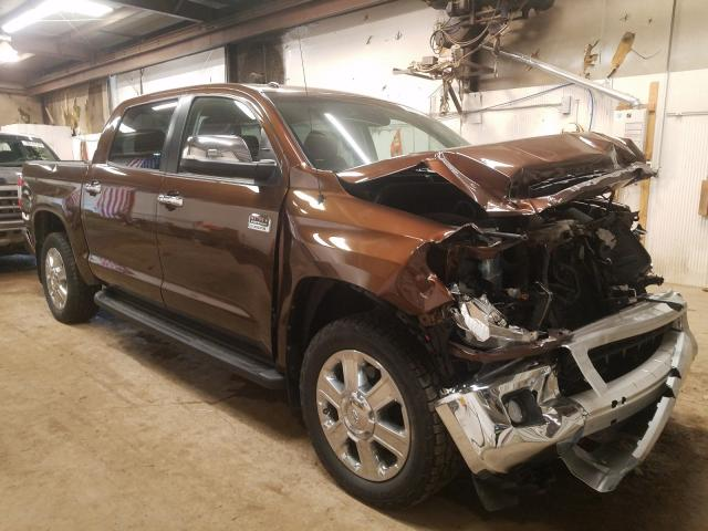 Salvage cars for sale from Copart Casper, WY: 2014 Toyota Tundra CRE