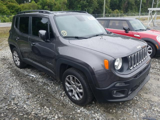 Salvage cars for sale from Copart Tifton, GA: 2018 Jeep Renegade L