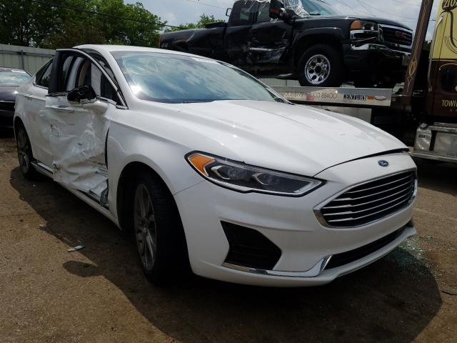 Salvage cars for sale from Copart Moraine, OH: 2019 Ford Fusion SEL