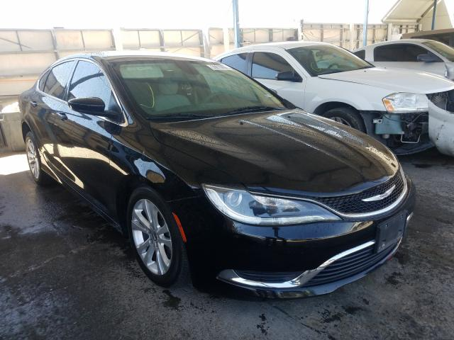 Salvage cars for sale from Copart Anthony, TX: 2015 Chrysler 200 Limited