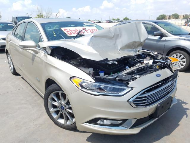 Ford Fusion Titanium salvage cars for sale: 2017 Ford Fusion Titanium